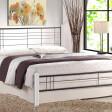 Кровать Halmar Viera | 120х200 / Белый / черный
