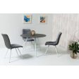 Стол обеденный Signal Evita | Серый / белый - 3