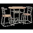 Набор мебели столовой Signal Gabo | Дуб сонома