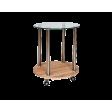 Барный столик  Signal Carla | Дуб сонома / хром