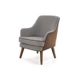 Кресло Halmar Telaviv | Коричневый / Черный / Белый