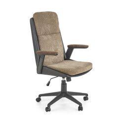 Кресло поворотное Halmar Herbic | Коричневый / Черный