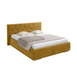 Кровать BRW Roxy 160 | 160x200 / Горчичный (Riviera 41 Yellow)