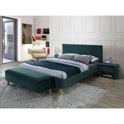 Кровать Signal Azurro Velvet | 140х200 / Зеленый / Дуб (Bluvel 78)