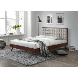 Кровать Halmar Solomo | 160х200 / Бежевый / орех