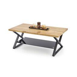 Стол журнальный Halmar Xena прямоугольный | Черный / Дуб натуральный