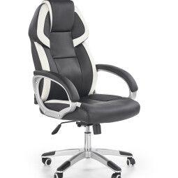 Кресло поворотное Halmar Barton | Черный / Белый