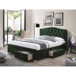 Кровать Signal Electra Velvet | 160х200 / Зеленый / Дуб
