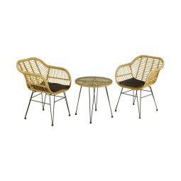 Комплект мебели садовый Pooffe Orlean | Бежевый