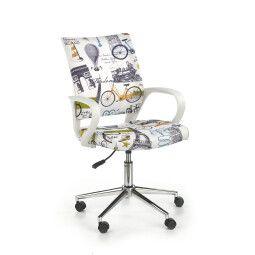 Кресло поворотное Halmar Ibis | Принт Париж