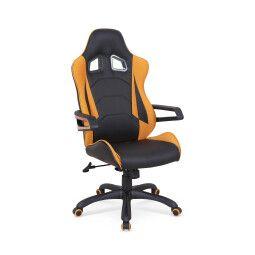 Кресло поворотное Halmar Mustang | Оранжевый / черный