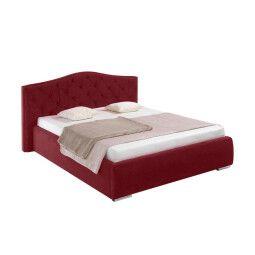 Кровать BRW Alexandra 160 | 160x200 / Бордовый (Riviera 59 Maroon)