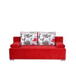 Диван-кровать BRW Reno | Красный / Принт (Solo 256/390841-101-Grafiti)