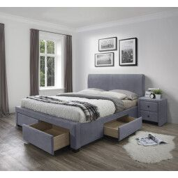 Кровать Halmar Modena 3 Velvet | 160х200 / Серый