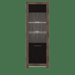 Витрина Gerbor Белен REG_1W | Дуб монастырский / Дуб болотный коричневый