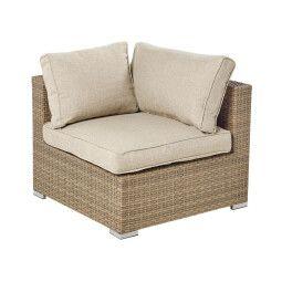 Кресло угловое садовое Pooffe Santorini | Коричневый