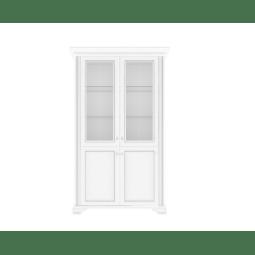 Витрина Gerbor Вайт 2D1W | Ясень снежный / Сосна серебрянная
