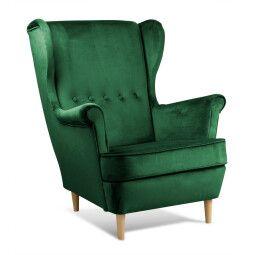 Кресло Atreve Vako | Зеленый / Дуб