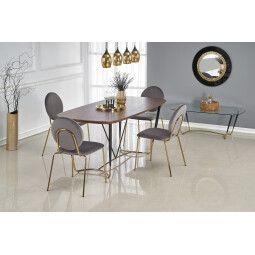 Стол обеденный Halmar Manchester   Орех / Черный / Золотой