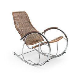 Кресло-качалка Halmar Ben | Коричневый микс