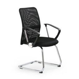 Кресло офисное Halmar Vire Skid  | Черный