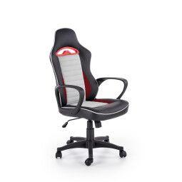 Кресло поворотное Halmar Bering | Черный / Красный / Cерый