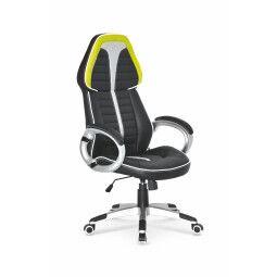 Кресло поворотное Halmar Signet | Черный / Серый / Лайм