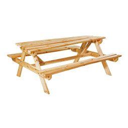 Стол садовый с лавками Pooffe Uppsala | Деревянный