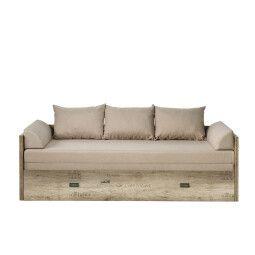 Кровать BRW Malcolm 150 | Дуб каньон / Принт