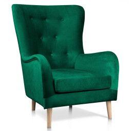 Кресло Atreve Marshal | Зеленый / Дуб