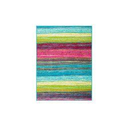 Ковер BRW Teenager 160х220 | Голубой / Разноцветный