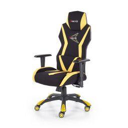 Кресло поворотное Halmar Stig | Черный / Желтый