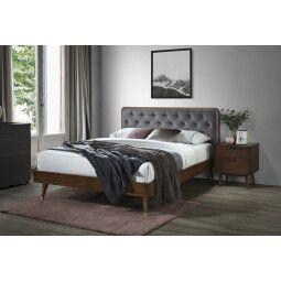 Кровать Halmar Cassidy | 160x200 / Орех / Серый