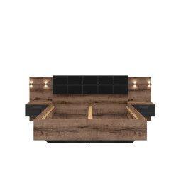 Кровать BRW Kassel A | 160х200 / Дуб монастырский / Дуб черный