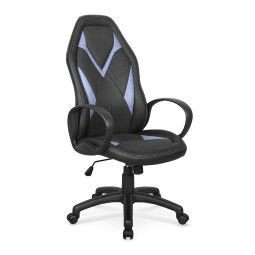 Кресло поворотное Halmar Coyot | Черный / Синий