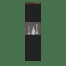 Витрина Gerbor Блэквуд WIT_55 | Дуб техас / Черный