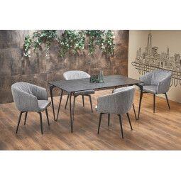 Стол обеденный Halmar Greyson   Серый / Черный
