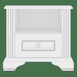 Тумба прикроватная Gerbor Вайт 1S | Ясень снежный / Сосна серебрянная