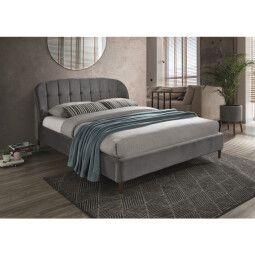 Кровать Signal Liguria Velvet | 160х200 / Серый