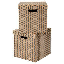IKEA Коробка с крышкой TRYCK (ИКЕА ТРЮК)