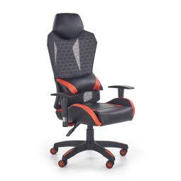Кресло поворотное Halmar Domen | Черный / красный