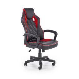 Кресло поворотное Halmar Baffin | Черный / Красный