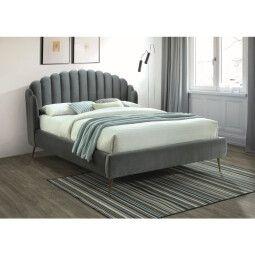 Кровать Signal Calabria Velvet | 160х200 / Серый / Золотой (BLUVEL 14)