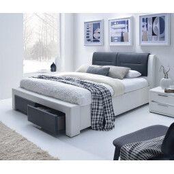 Кровать Halmar Cassandra S | 140х200 / Белый / черный