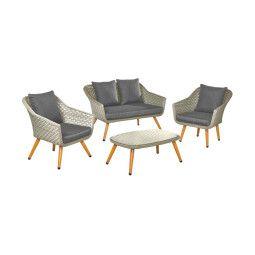Комплект мебели садовый Pooffe Kordoba | Антрацит