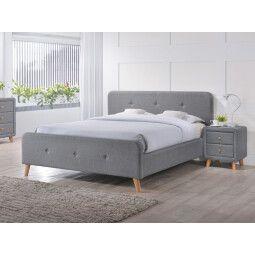 Кровать Signal Malmo | 140х200 / Серый / Дуб