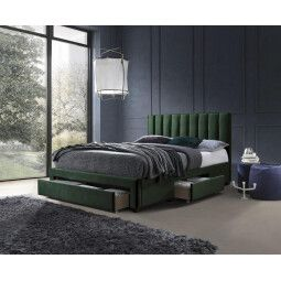 Кровать Halmar Grace | 160х200 / Темно-зеленый
