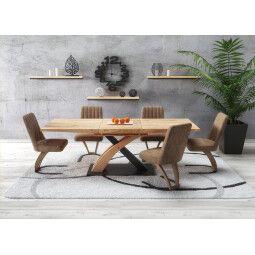 Стол обеденный Halmar Sandor 3 | Дуб золотой