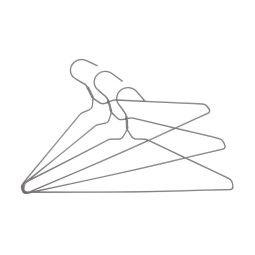 Вешалка плечики металлические BRW | Серый