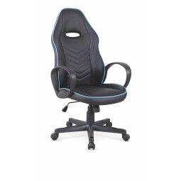 Кресло поворотное Halmar Scoty | Черный / Голубой